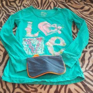 AQUA GIRLS LEVI'S LONG SLEEVE SHIRT - LOVED/USED